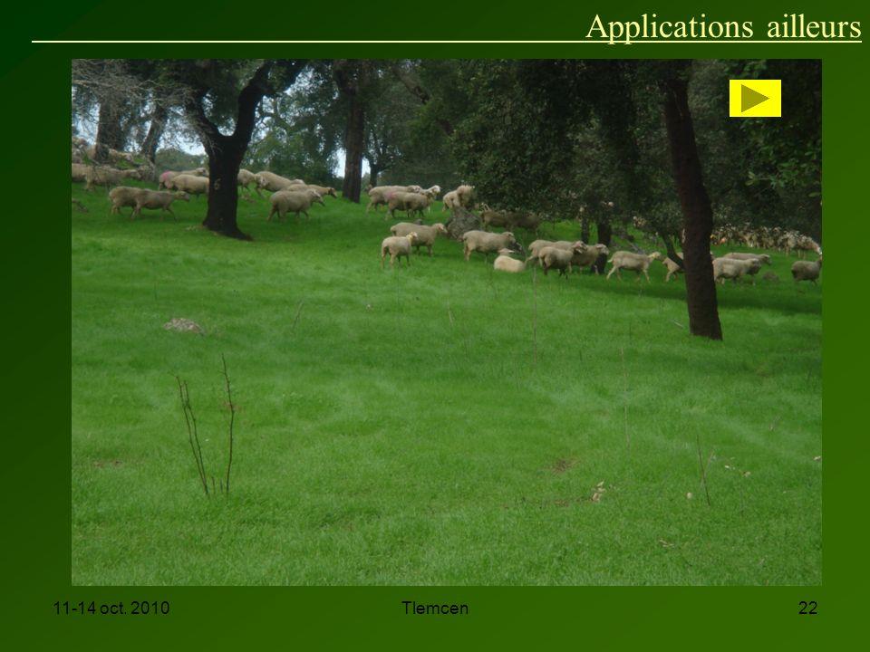 11-14 oct. 2010Tlemcen22 Applications ailleurs