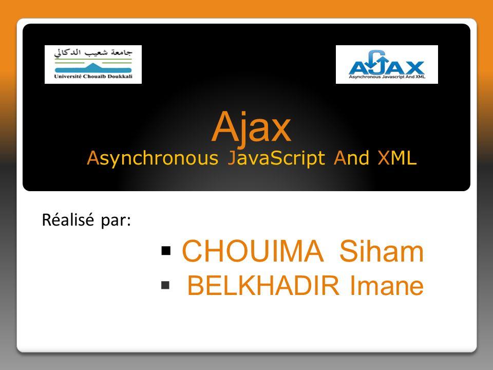 Plan Ajax, Analyse De Quelques Cas Réels Technologies Possibles Pour Les RIAs Applications Riches Pour Internet (RIA) Les Applications Traditionnelles Quest-ce que AJAX .
