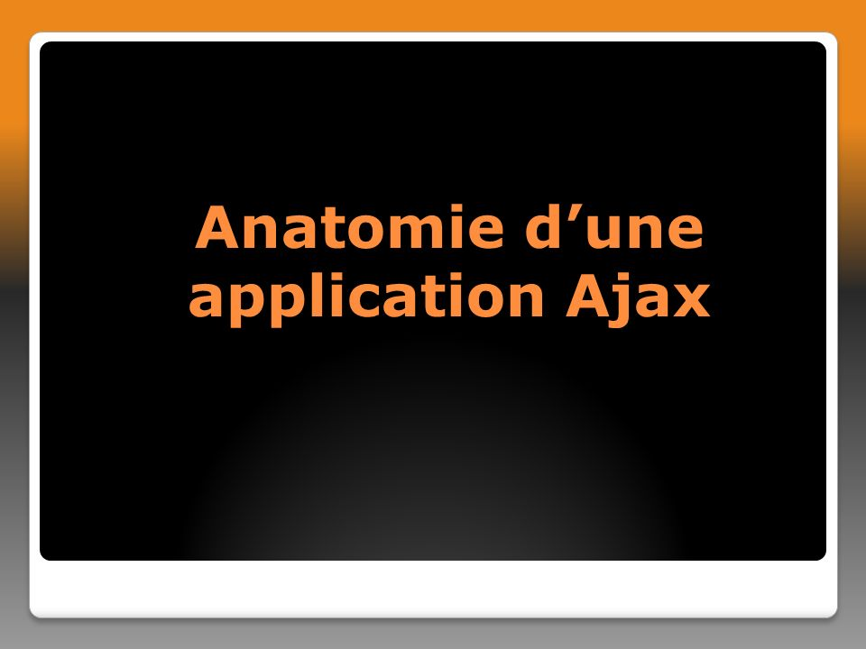Anatomie dune application Ajax