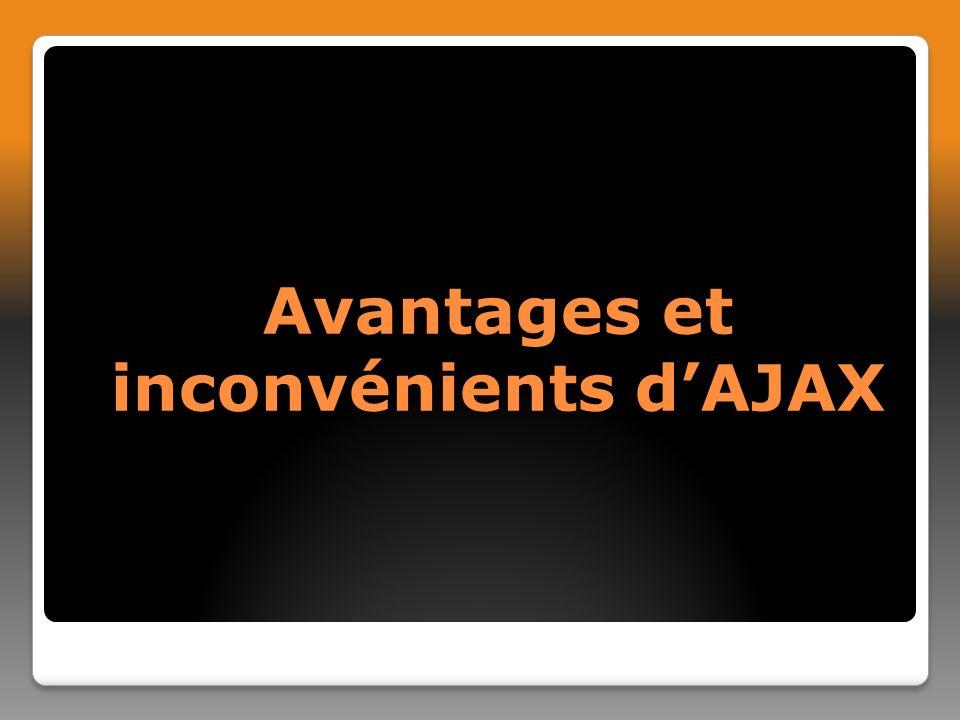 Avantages et inconvénients dAJAX