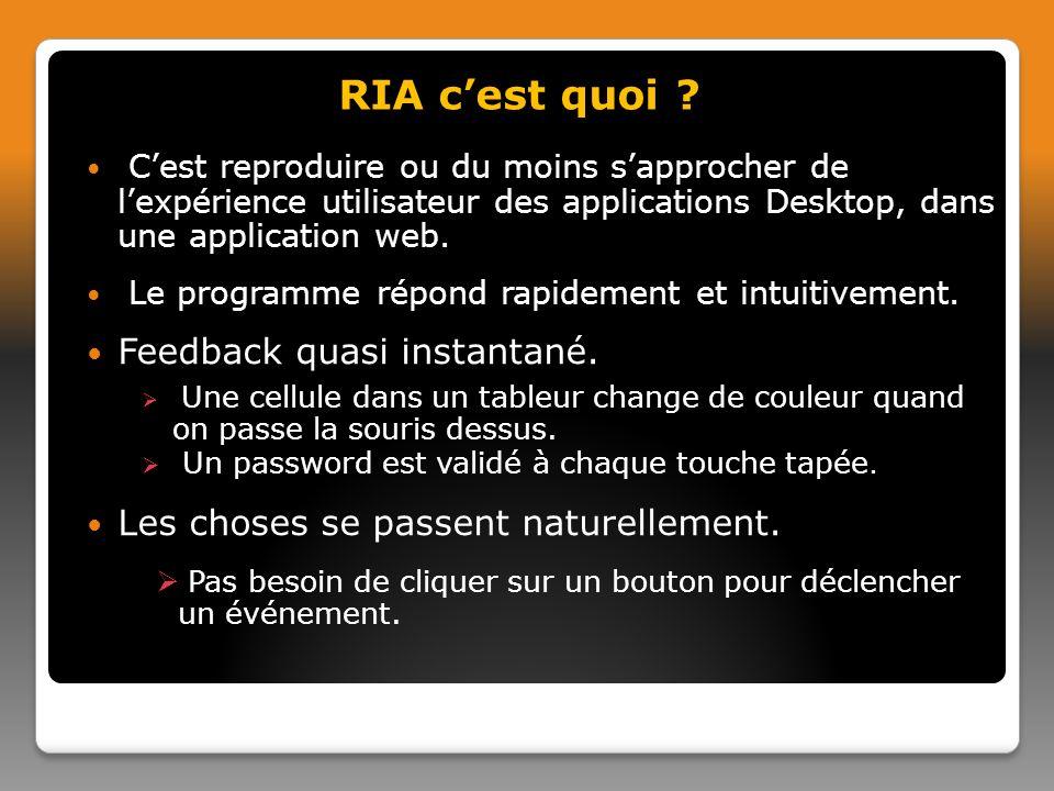 var req; function initRequest() { if (window.XMLHttpRequest) { req = new XMLHttpRequest(); } else if (window.ActiveXObject) { isIE = true; req = new ActiveXObject( Microsoft.XMLHTTP ); } } function validateUserId() { initRequest(); req.onreadystatechange = processRequest; if (!target) target = document.getElementById( userid ); var url = validate?id= + escape(target.value); req.open( GET , url, true); req.send(null) } 2.