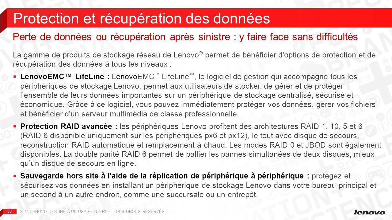 34 2014 LENOVO DESTINÉ À UN USAGE INTERNE.TOUS DROITS RÉSERVÉS.