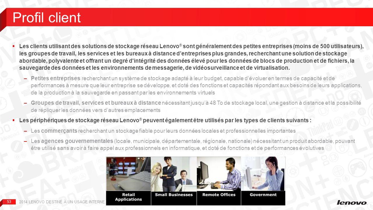 Études de cas et besoins du marché 2014 LENOVO DESTINÉ À UN USAGE INTERNE. TOUS DROITS RÉSERVÉS.