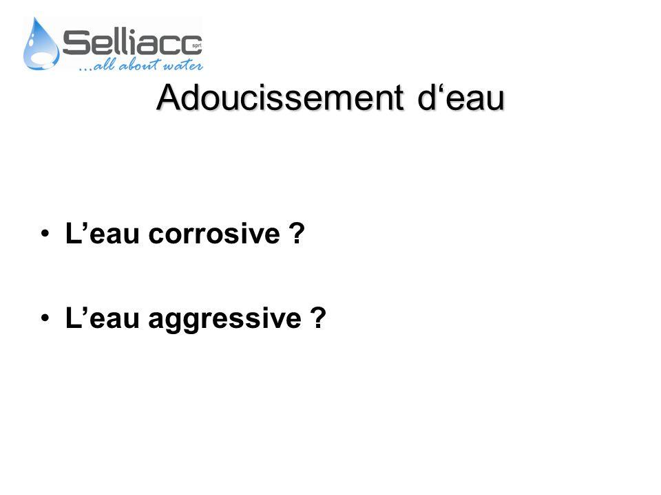 Leau corrosive ? Leau aggressive ? Adoucissement deau