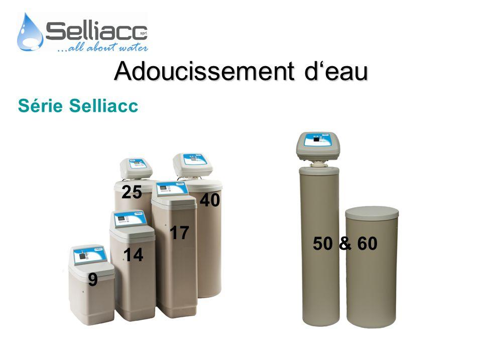 Série Selliacc 50 & 60 9 14 17 25 40 Adoucissement deau
