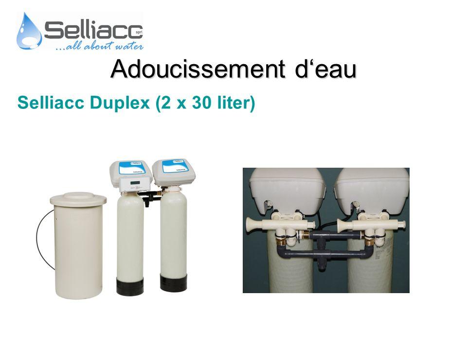 Selliacc Duplex (2 x 30 liter) Adoucissement deau