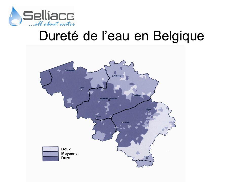 Doux Moyenne Dure Dureté de leau en Belgique