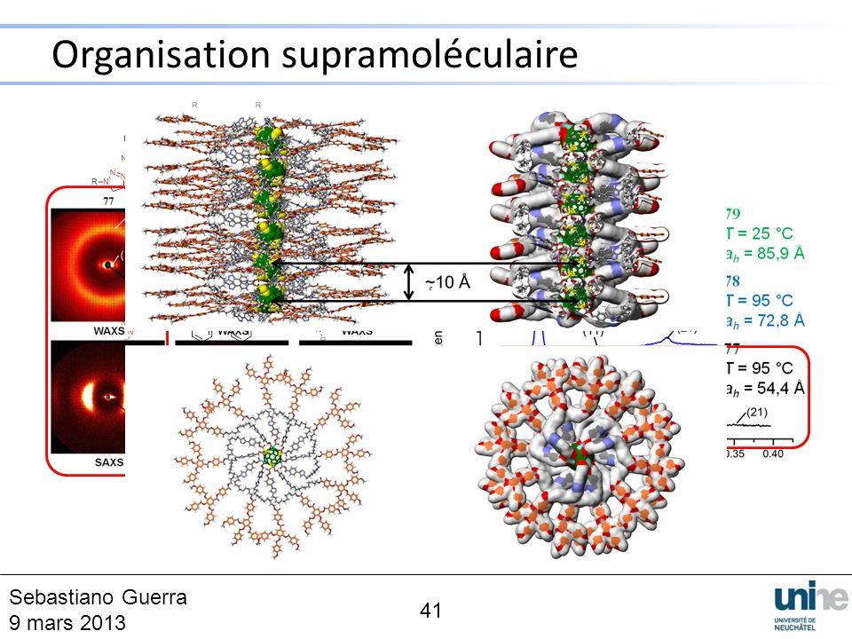Organisation supramoléculaire 41 5 Sebastiano Guerra 9 mars 2013