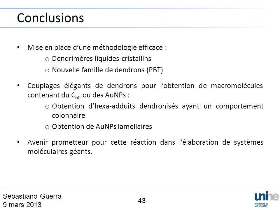 Mise en place dune méthodologie efficace : o Dendrimères liquides-cristallins o Nouvelle famille de dendrons (PBT) Couplages élégants de dendrons pour