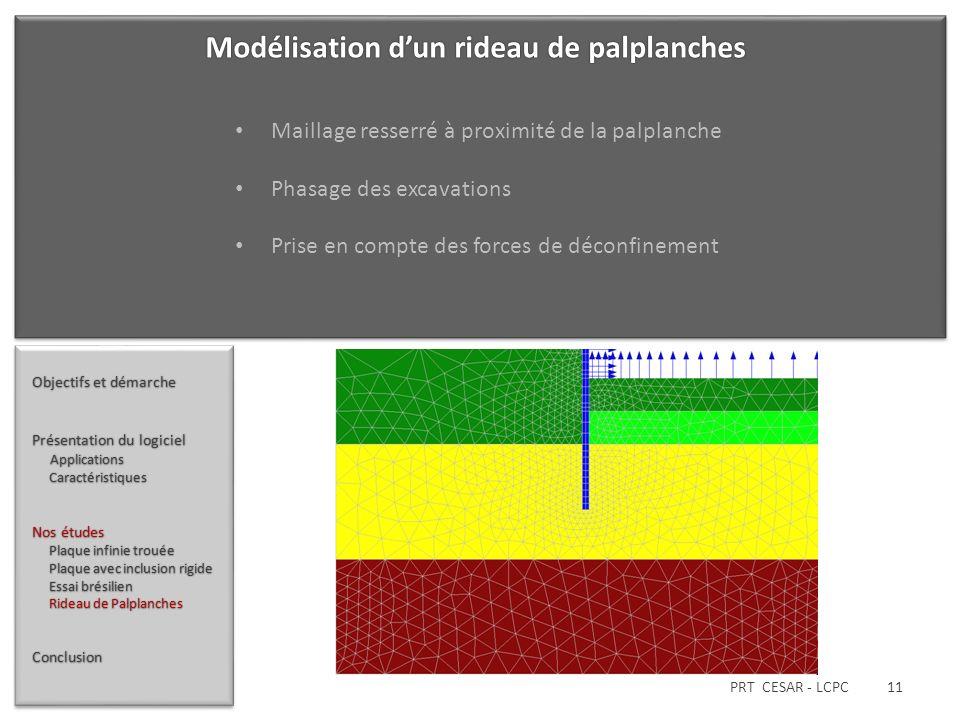PRT CESAR - LCPC 11 Objectifs et démarche Présentation du logiciel Applications Applications Caractéristiques Caractéristiques Nos études Plaque infin