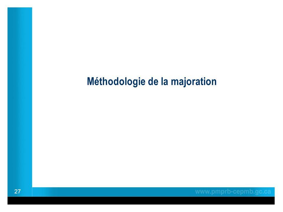 Méthodologie de la majoration 27