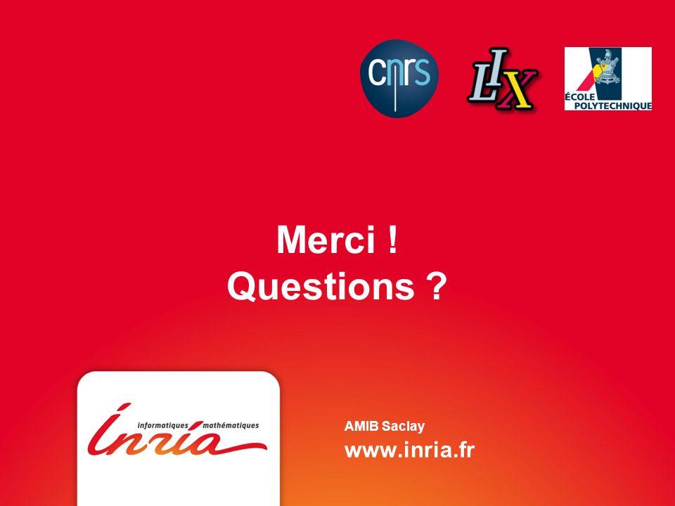 Merci ! Questions AMIB Saclay www.inria.fr