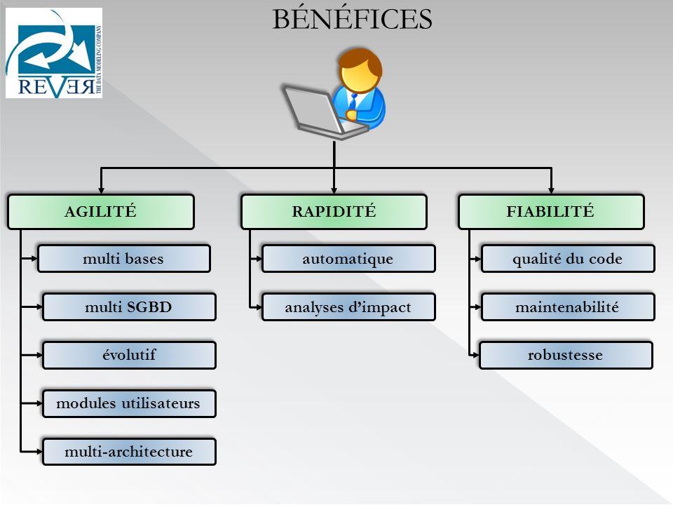 automatique multi SGBD multi bases évolutif qualité du code maintenabilité robustesse FIABILITÉ modules utilisateurs multi-architecture analyses dimpa