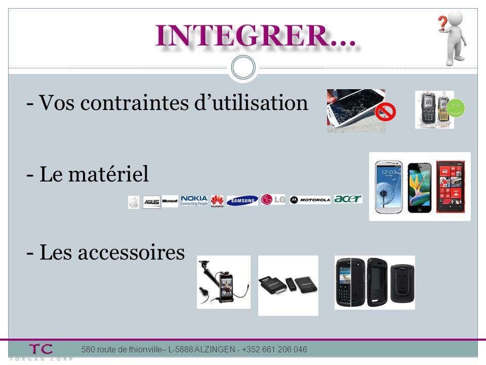 -Configuration personnalisée -Applications spécifiques 580 route de thionville– L-5888 ALZINGEN - +352 661 206 046 Mon Entreprise Mon Application Grand public… Métier….