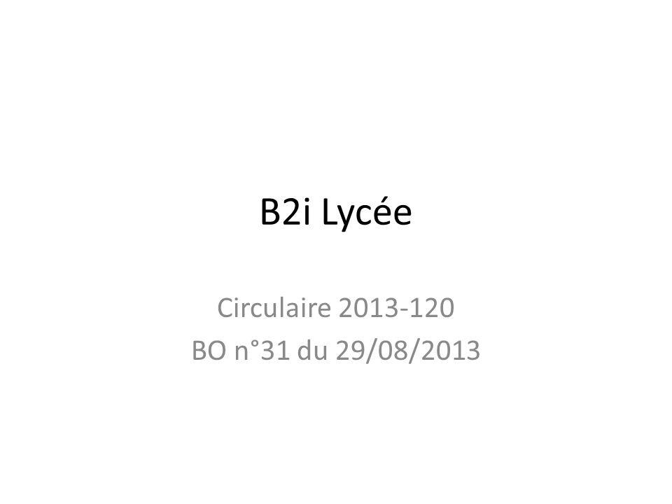 Validation du B2i Lélève doit valider au moins 80% des items soit 25 items sur les 31.
