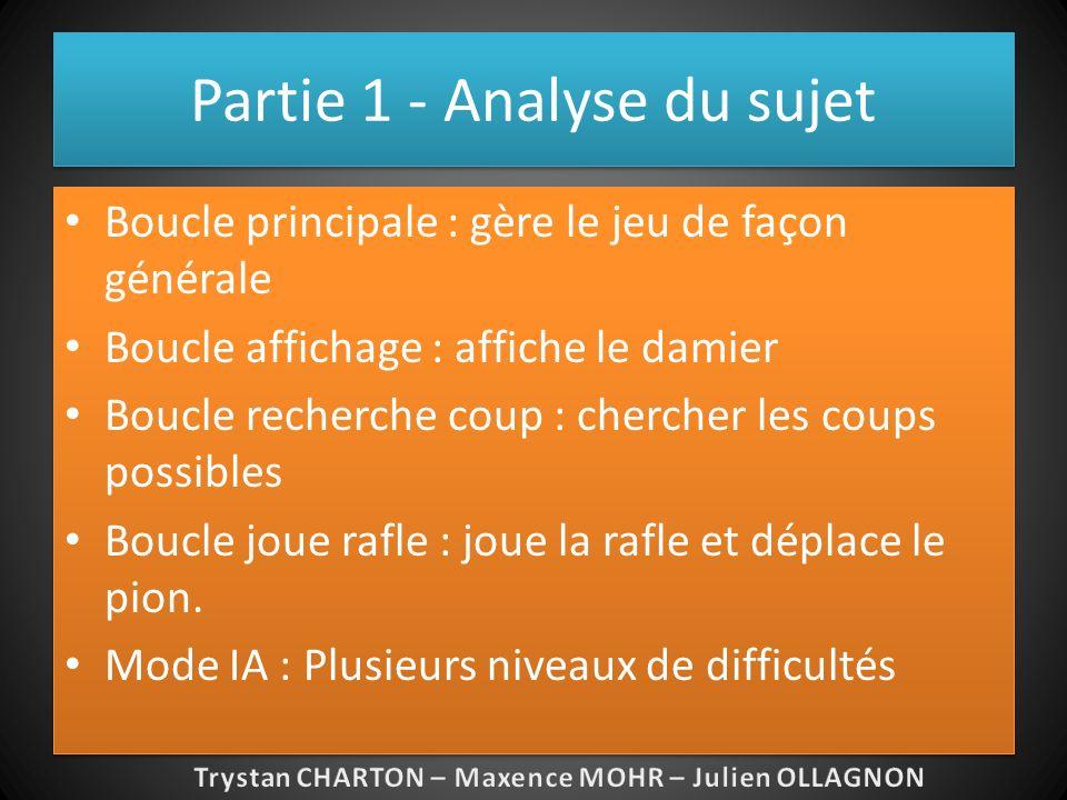 Partie 1 – Structures de données