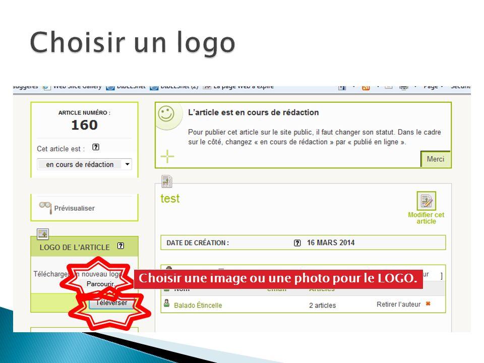 Choisir une image ou une photo pour le LOGO.