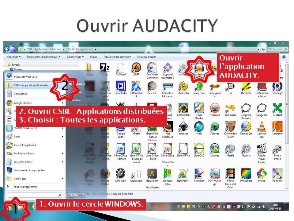 Brancher un micro ou utiliser celui intégré à lordinateur et cliquer sur le bouton rouge.