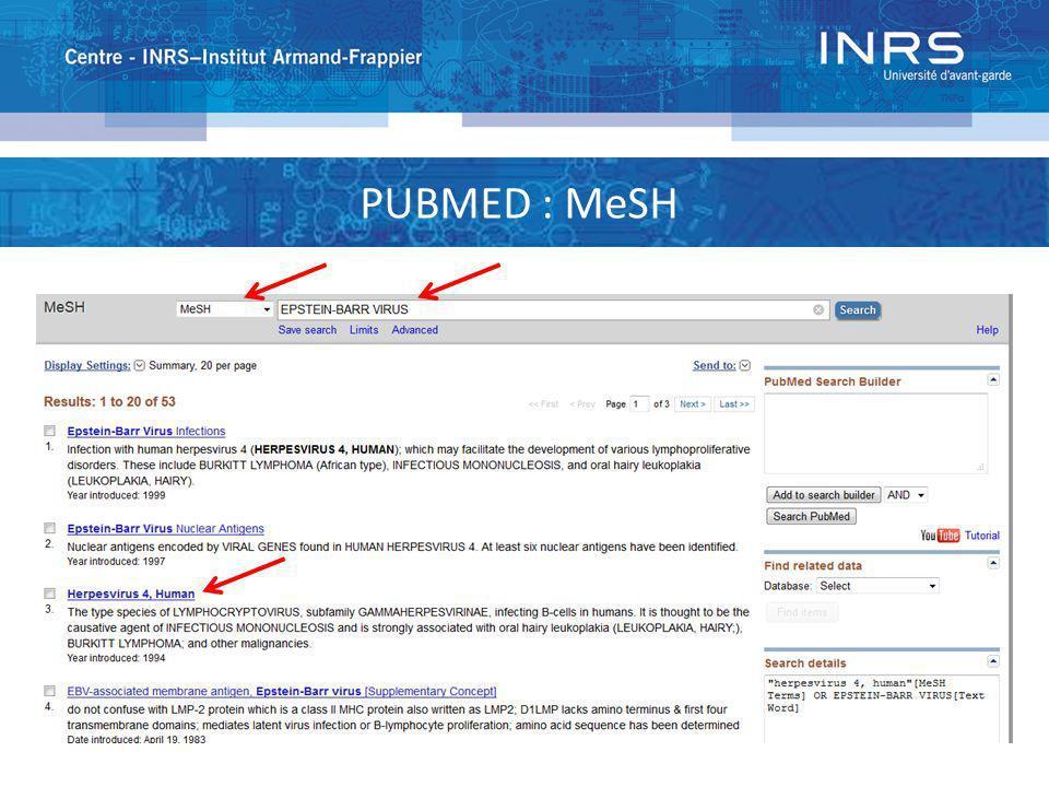 PUBMED : MeSH