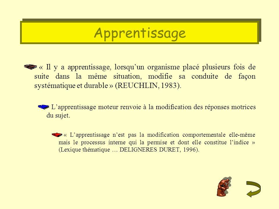 Objectifs « Enoncé dintention pédagogique décrivant en terme de capacité de lapprenant, lun des résultats escompté dune séquence dapprentissage » (Hameline, 1979).