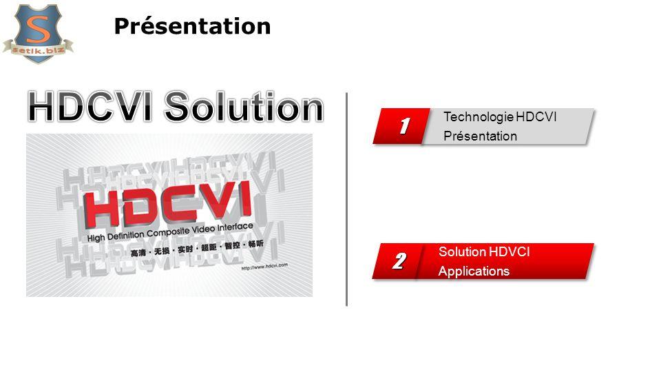 Présentation Technologie HDCVI Présentation 11 Solution HDVCI Applications 22