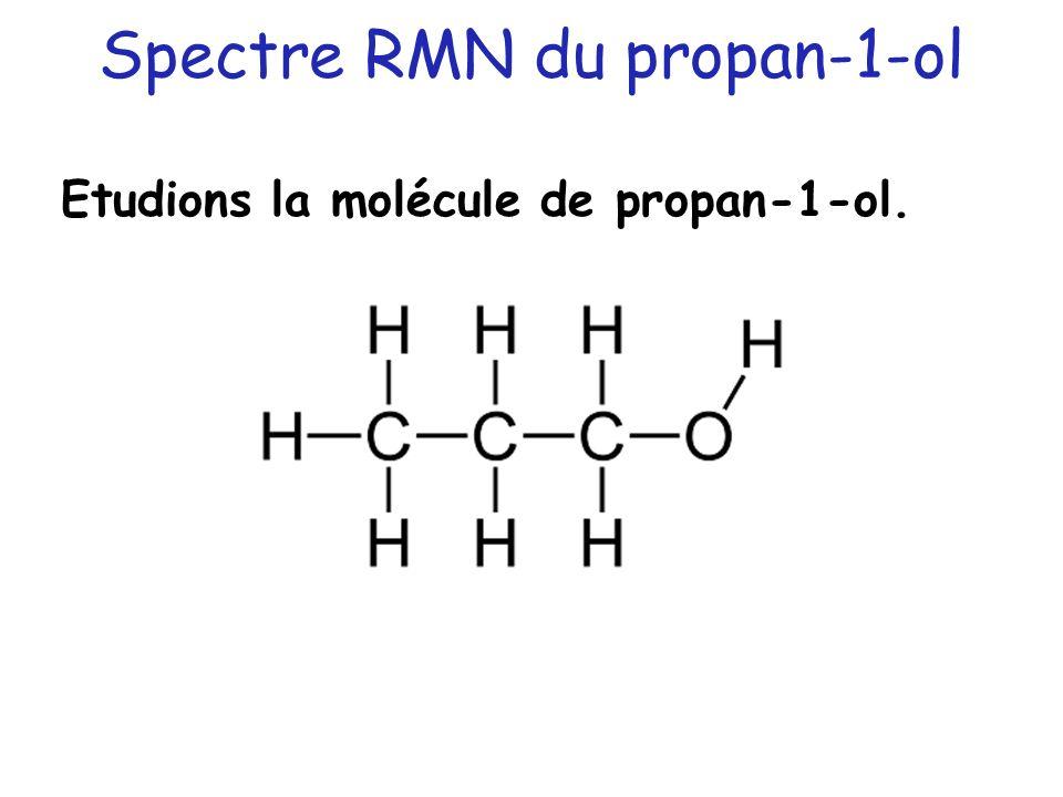 Spectre RMN du propan-1-ol Etudions la molécule de propan-1-ol.