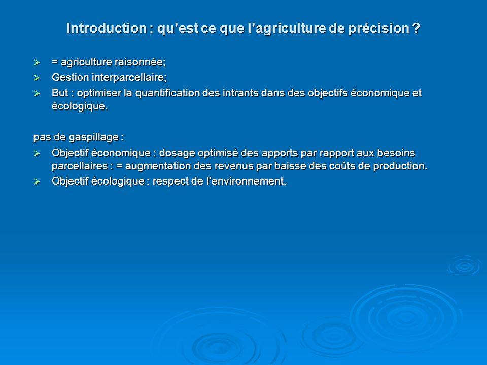 Introduction : Quest la gestion géographique agricole .
