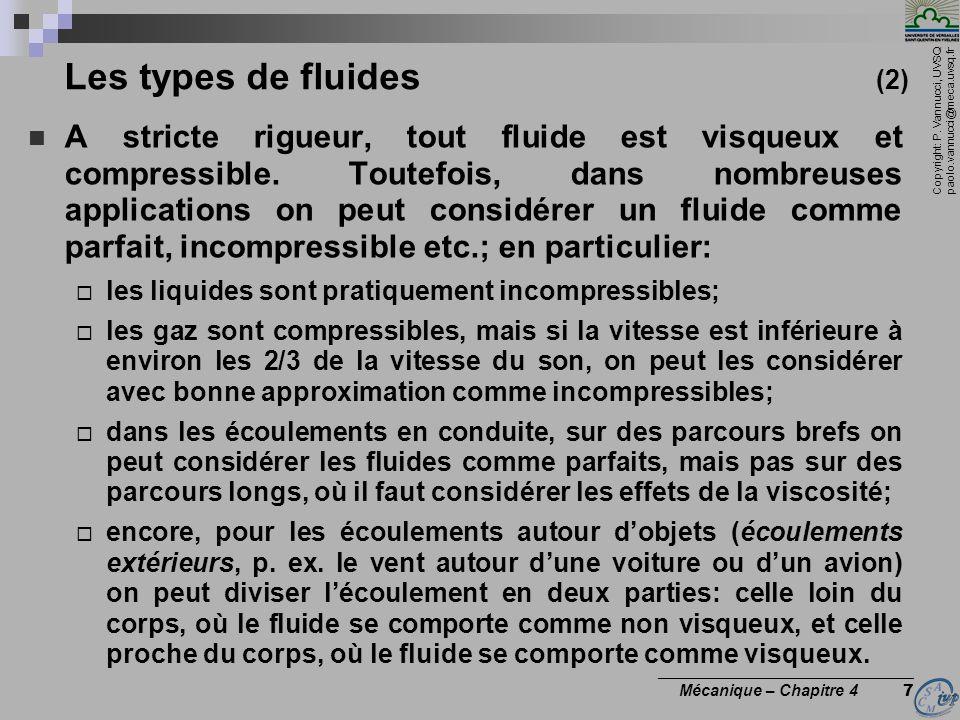 Copyright: P. Vannucci, UVSQ paolo.vannucci@meca.uvsq.fr ________________________________ Mécanique – Chapitre 4 7 Les types de fluides (2) A stricte