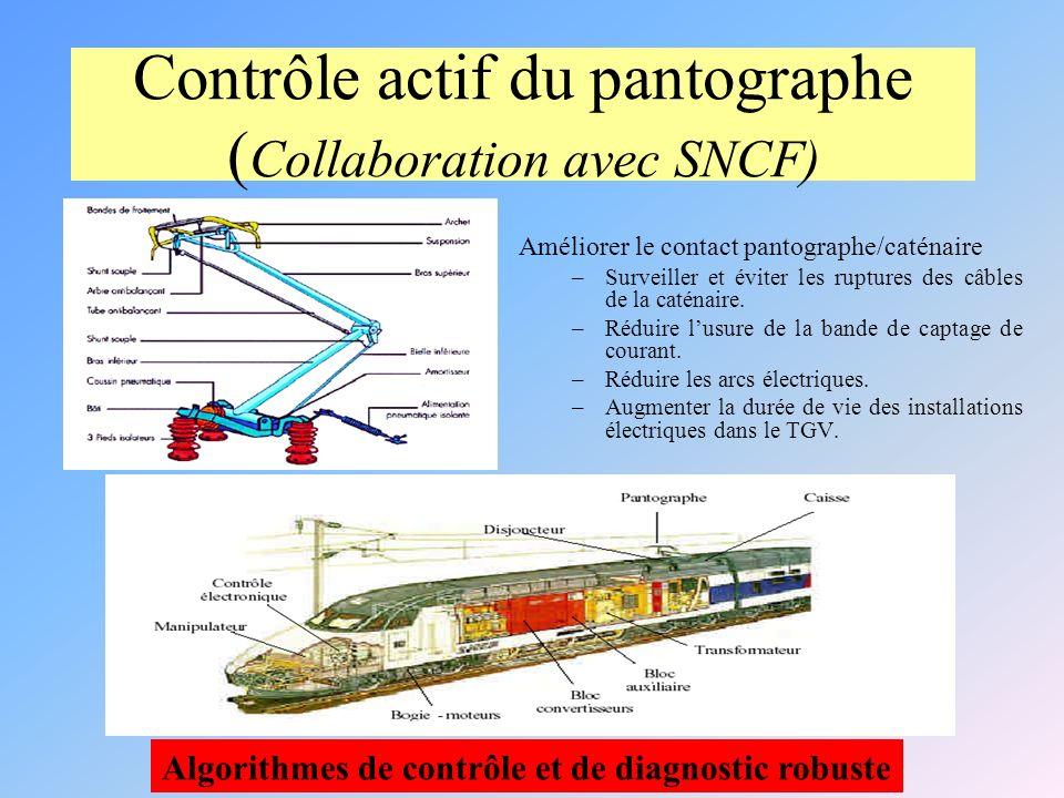 Améliorer le contact pantographe/caténaire –Surveiller et éviter les ruptures des câbles de la caténaire.
