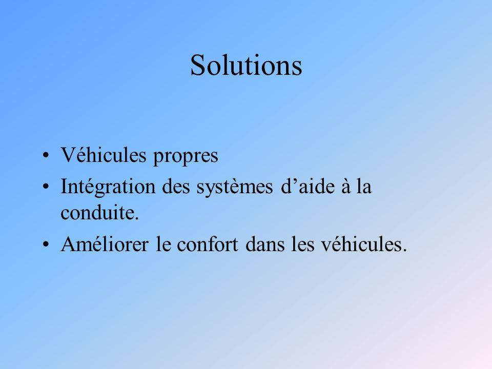 Solutions Véhicules propres Intégration des systèmes daide à la conduite.