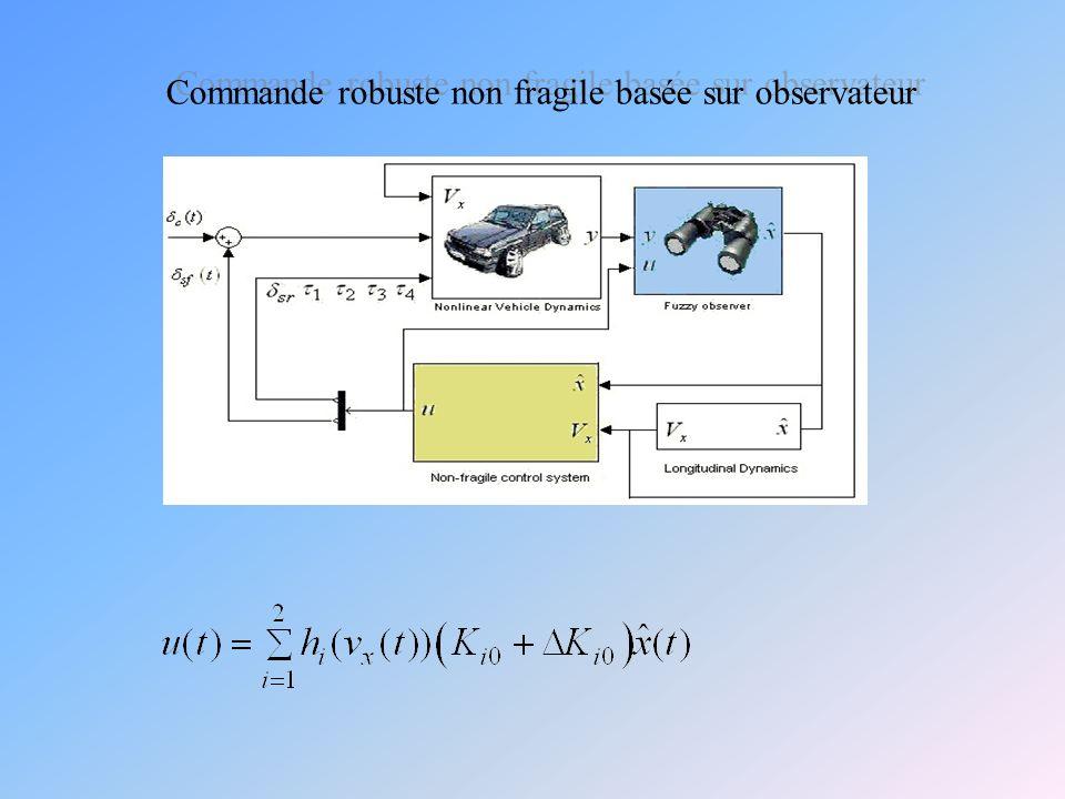 Commande robuste non fragile basée sur observateur