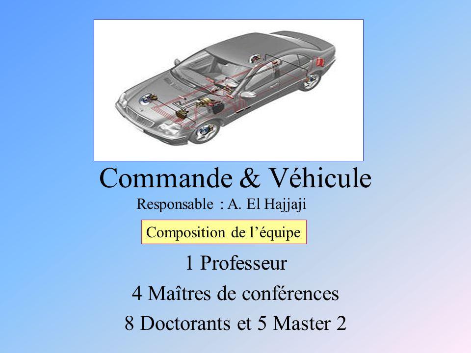 Commande & Véhicule 1 Professeur 4 Maîtres de conférences 8 Doctorants et 5 Master 2 Composition de léquipe Responsable : A.