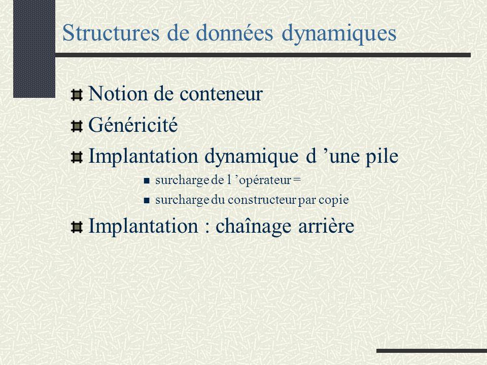 Leçon 6 : Structures de données dynamiques IUP 2 Génie Informatique Méthode et Outils pour la Programmation Françoise Greffier
