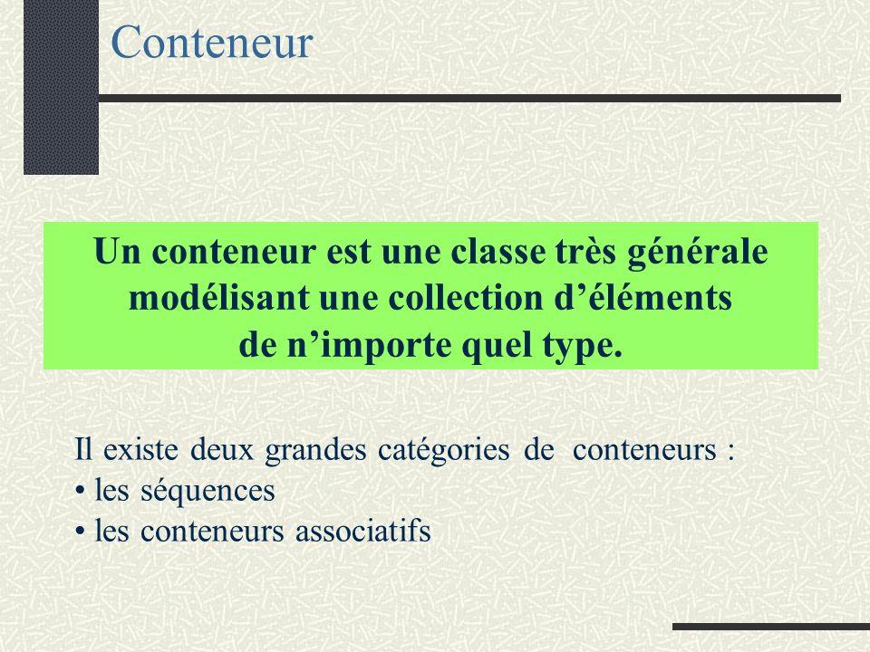 Des structures de données classiques Exemples : liste, pile, file attente, arbres, graphes...