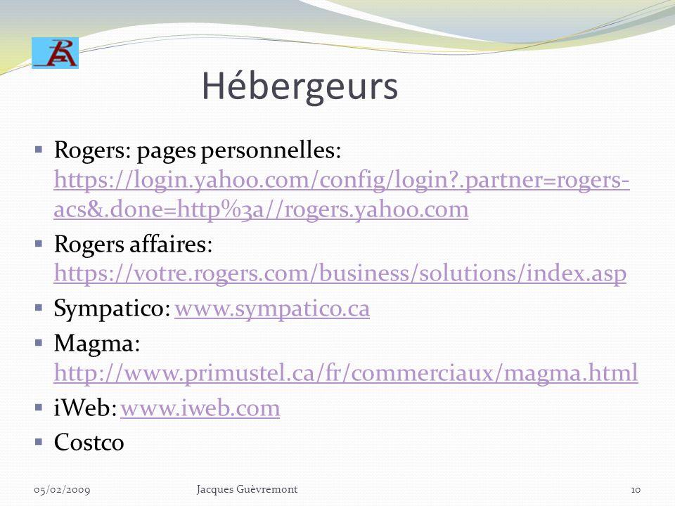 Fournisseur daccès Internet (FAI)(ISP) Rogers via le câble, Wimax, cellulaire: http://www.rogers.com/web/Rogers.portal http://www.rogers.com/web/Roger