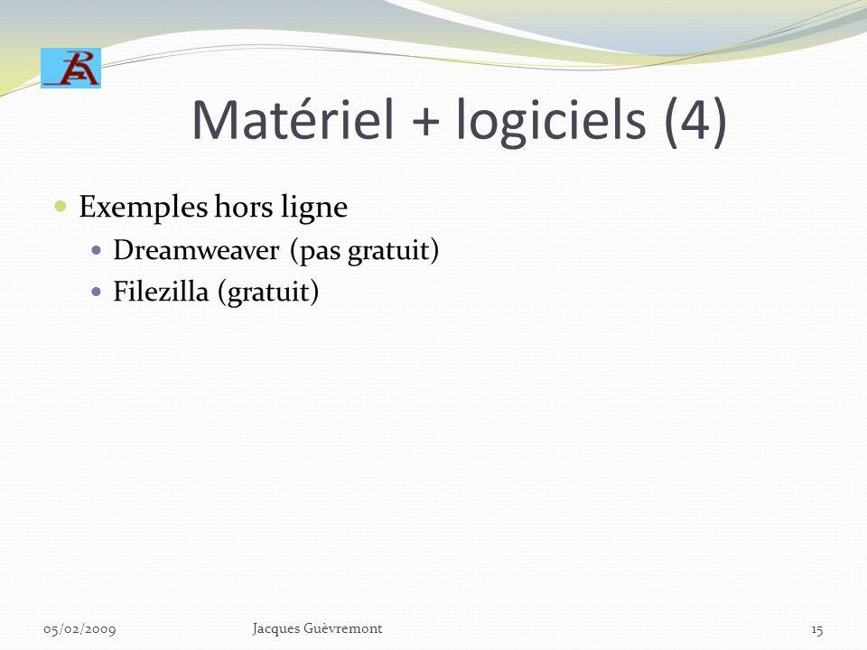 Matériel + logiciels (3) Exemples en ligne: REA https://s018.panelboxmanager.com:2083/frontend/panel box/index.php https://s018.panelboxmanager.com:20