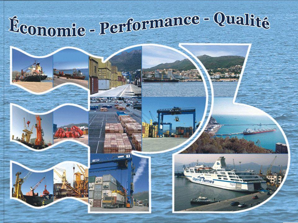 2 Présentation du port de Bejaia Principales performances 1er port algérien à avoir installé un terminal à conteneurs et développé le trafic des conteneurs frigorifiques mis en exploitation un centre de transit des marchandises dangereuses mis en place un intranet 2ième port algérien en matière de marchandise générale