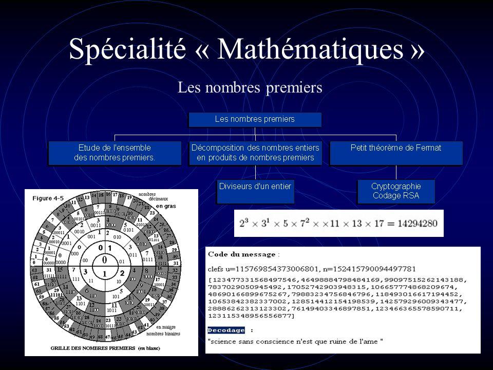 Spécialité « Mathématiques 234 10 =11101010 2 =1414 5 =EA 16 Quel jour de la semaine fut le 14 juillet 1789 ? Larithmétique
