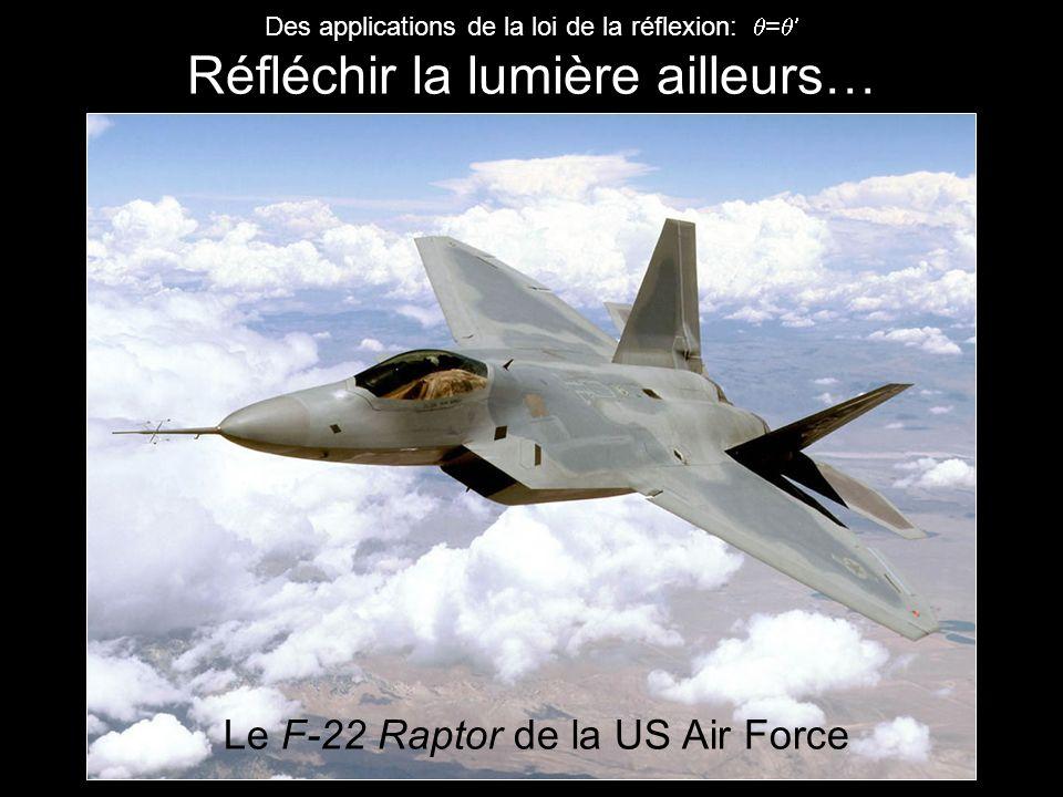 Des applications de la loi de la réflexion: = Réfléchir la lumière ailleurs… Le F-22 Raptor de la US Air Force