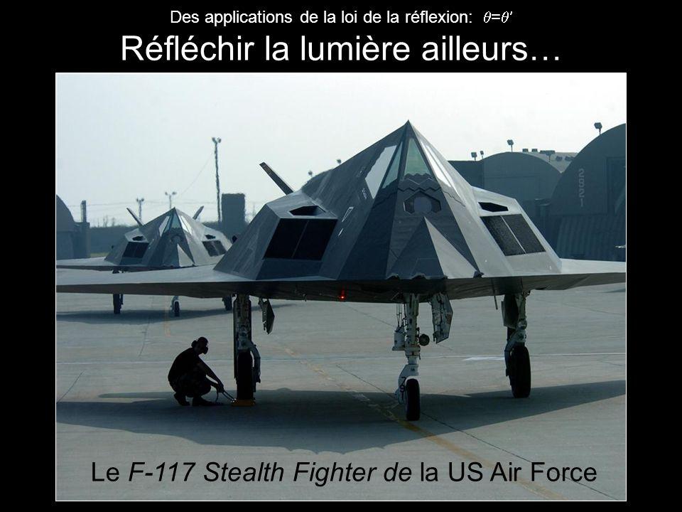 Des applications de la loi de la réflexion: = Réfléchir la lumière ailleurs… Le F-117 Stealth Fighter de la US Air Force