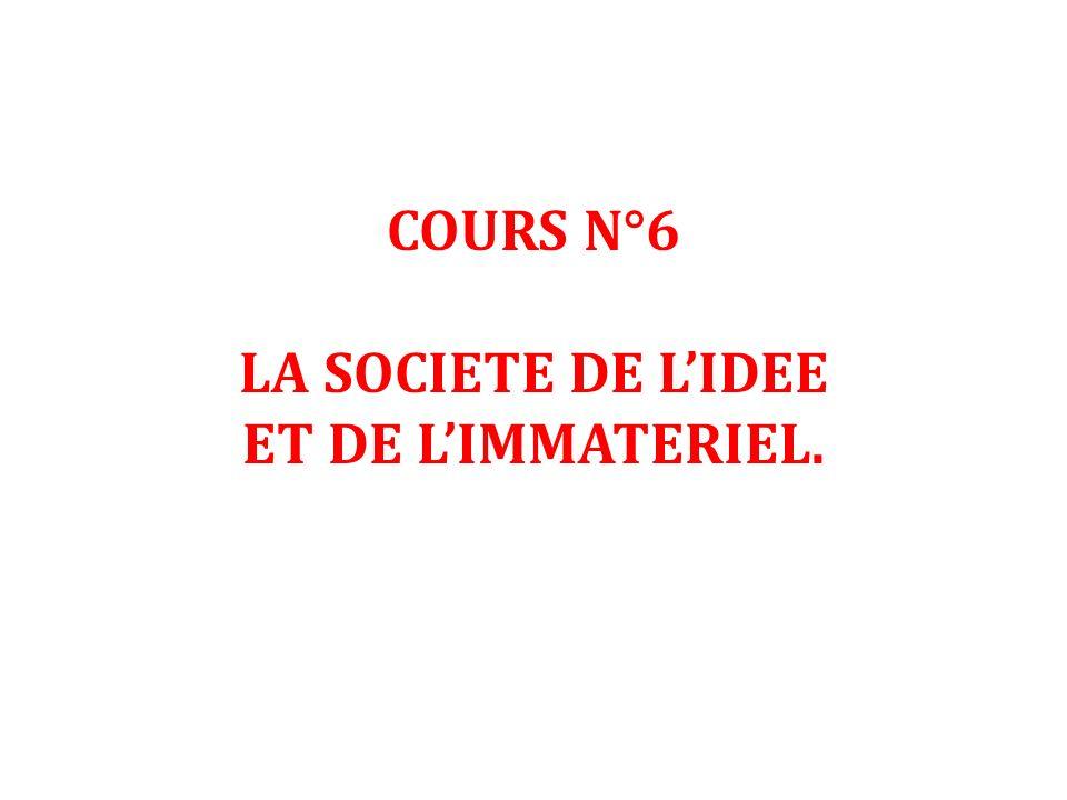 COURS N°6 LA SOCIETE DE LIDEE ET DE LIMMATERIEL.