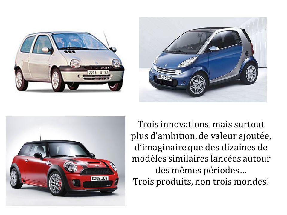 Trois innovations, mais surtout plus dambition, de valeur ajoutée, dimaginaire que des dizaines de modèles similaires lancées autour des mêmes période