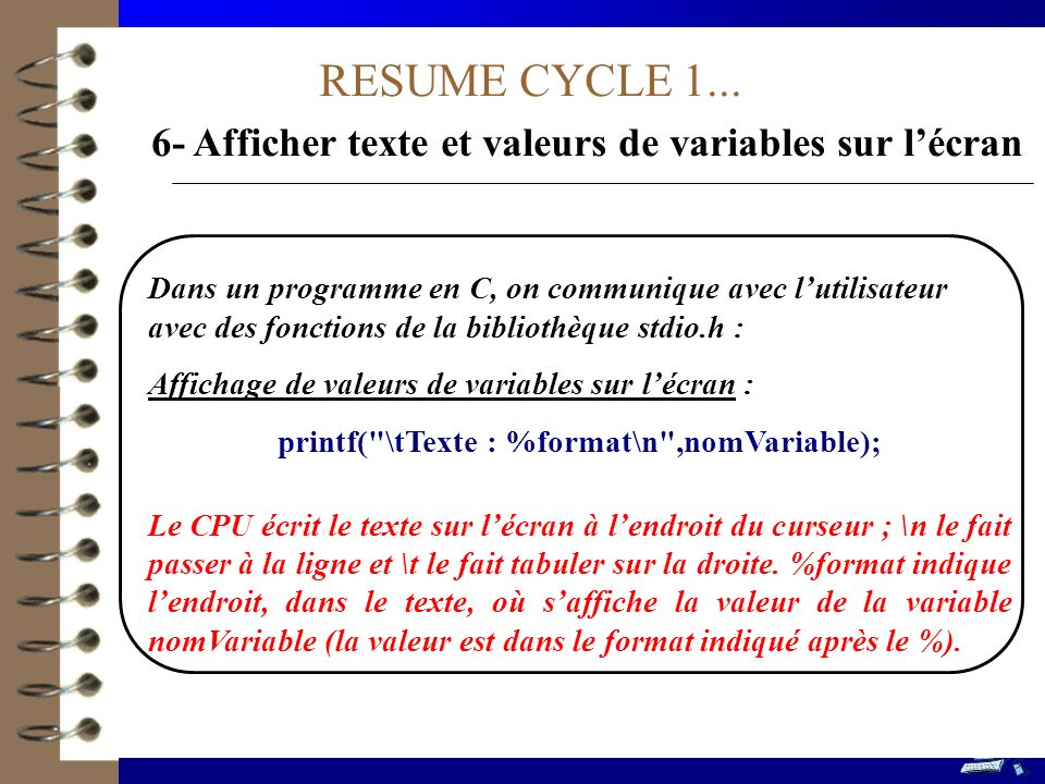 RESUME CYCLE 4...