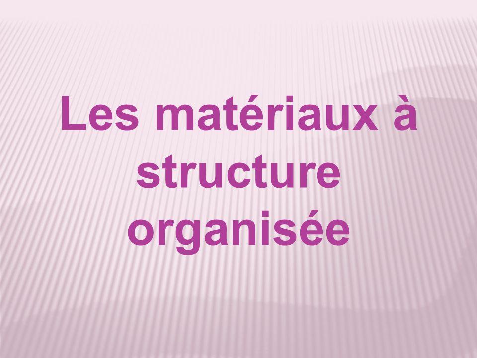 Les matériaux à structure organisée