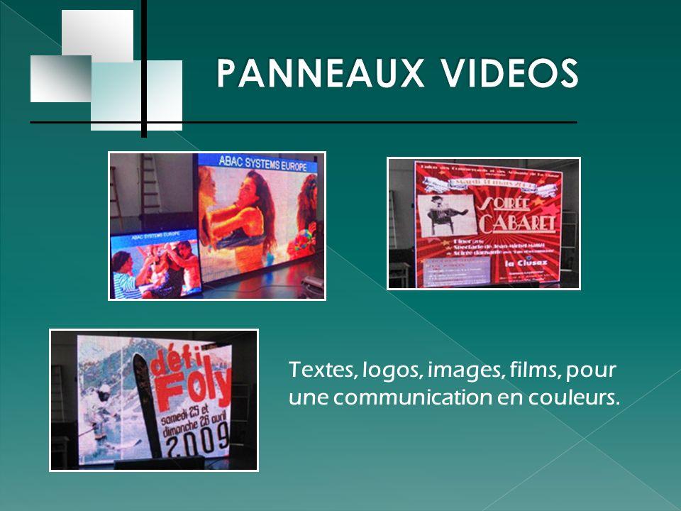 La borne d information électronique permet de diffuser un message aux points stratégiques de la ville.