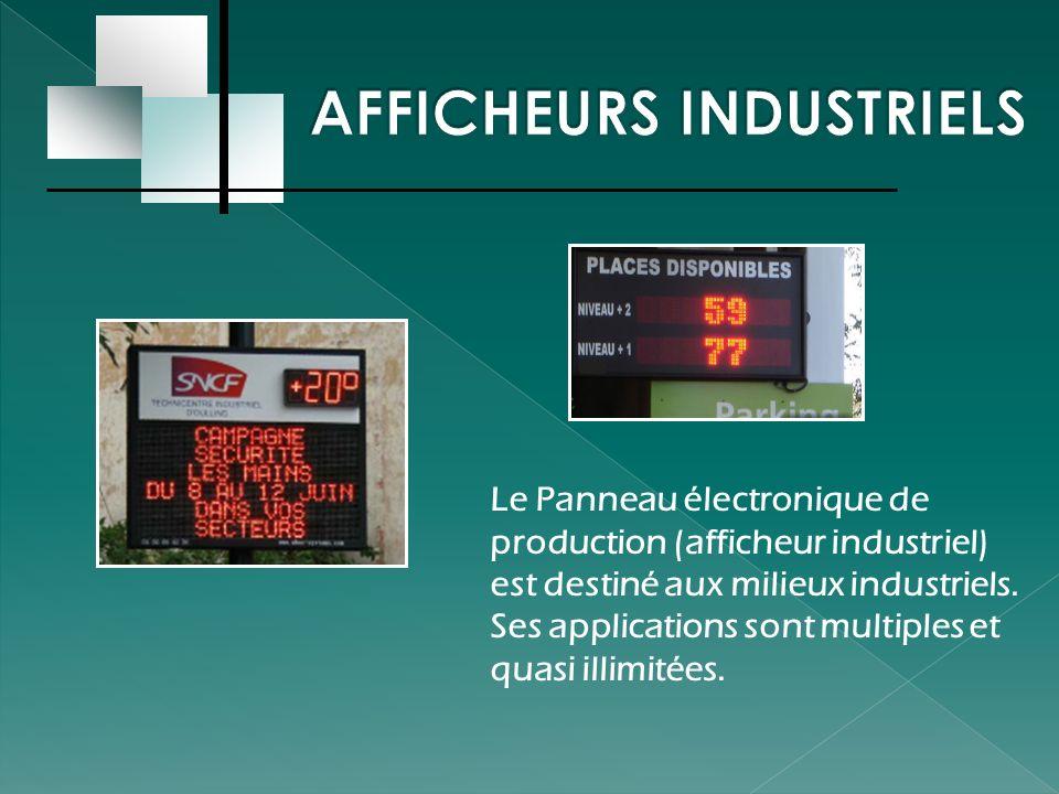 Avec une surface de 1 à 12 m2 (en standard), entièrement couvert de diodes (Leds), le Panneau Graphique créé l événement.