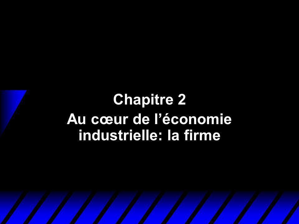 Chapitre 2 Au cœur de léconomie industrielle: la firme