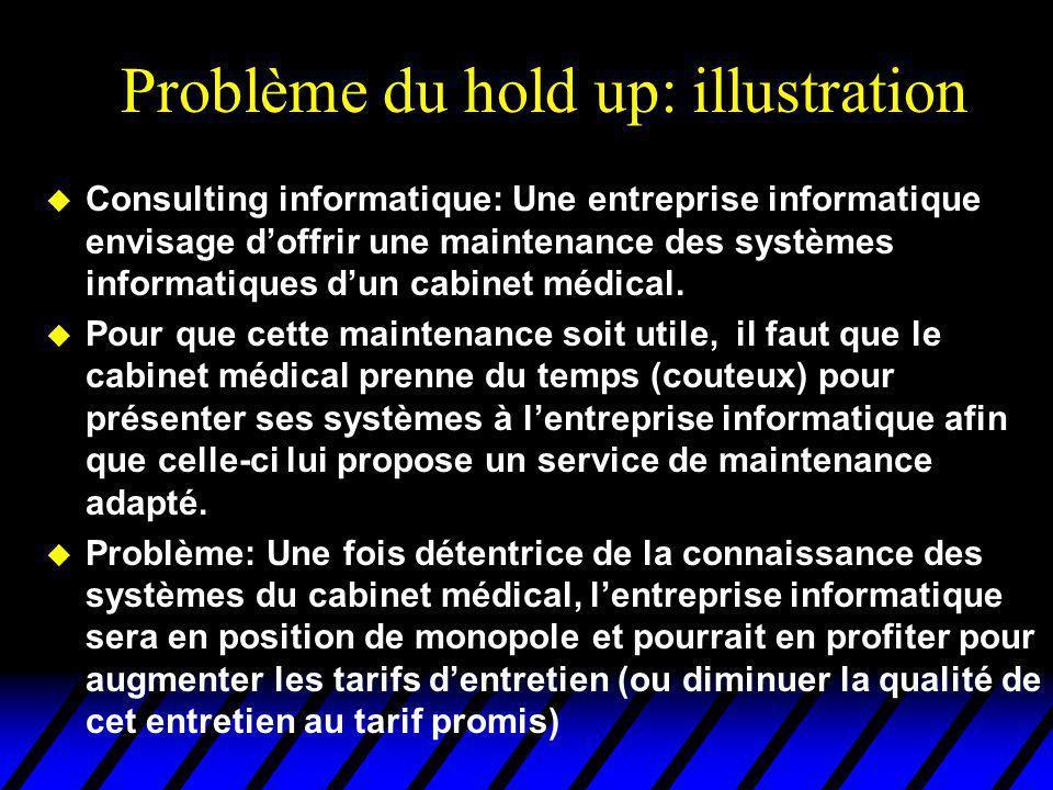 u Consulting informatique: Une entreprise informatique envisage doffrir une maintenance des systèmes informatiques dun cabinet médical. u Pour que cet