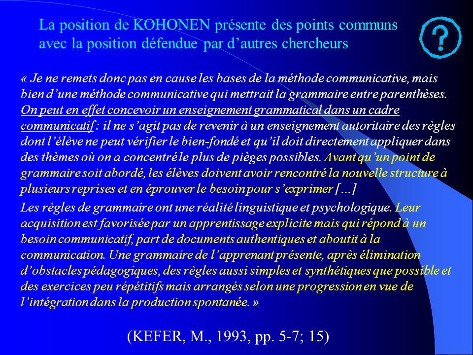 Adaptation du modèle Kolbien à lapprentissage des langues étrangères dans le cadre dune approche communicative (V. KOHONEN, 1990) 1. Concrete experien