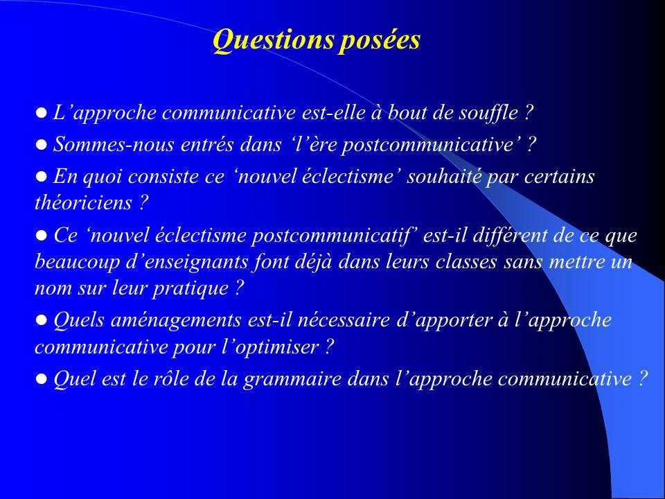 Exemples relativement traditionnels Pour la phase de PRESENTATION des faits grammaticaux (cf.